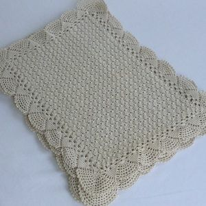 Vintage Crochet Placemats Set of 5